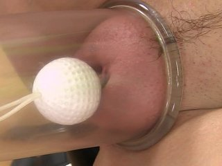 Blonde babe tight moist pussy toy play